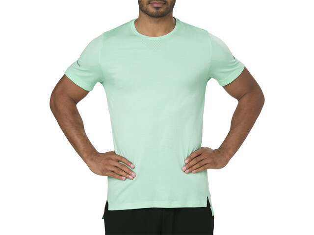 asics Seamless SS Top Herren opal green heather